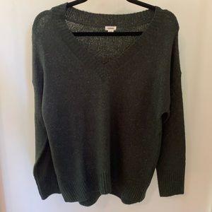 Garage forest green long sleeve sweater